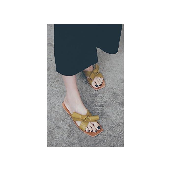 Dididd Sandali Scarpe Estive Femminili Piatte Arco Per Il Tempo Libero Da Spiaggia Morbide Pigri Indossare Pantofole giallo 36