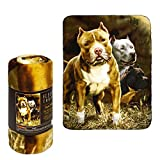 JPI Fleece Throw Blanket - Pitbull - Lightweight Faux Fur Fleece Blanket Large 50'x 60' - Use as Couch Cover, Sofa Cover, Bed Cover, Beach Blanket, Picnic Blanket, on Beds & Sofa Bed