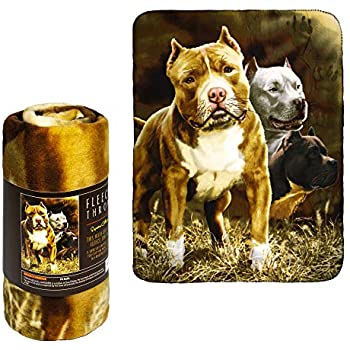 Amazon.com: JPI Fleece Throw Blanket - Pitbull