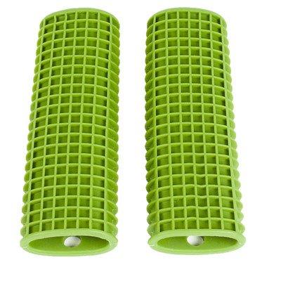 UPC 635409288690, Kitchen Utensil Pot Handle Holder Sleeve Cover Waffle Grip (Set of 2) Color: Green