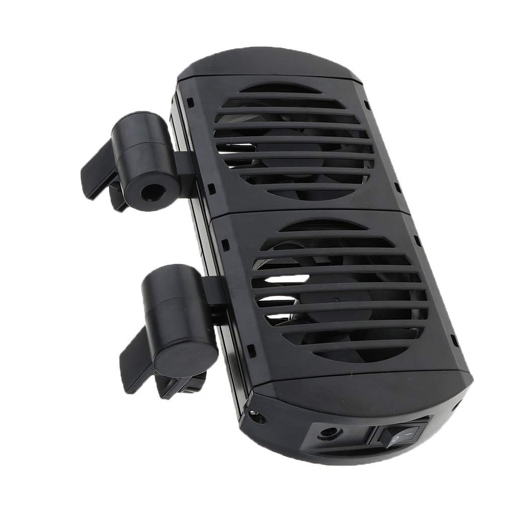 2 Ventilador LOVIVER Ventilador de Acuario Ventilaci/ón Silenciosa Potente Bajo Consumo de Energ/ía