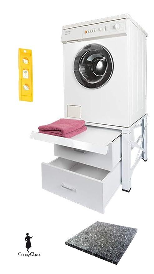 Estructura inferior para lavadora extra alta con 2 cajones y placa ...