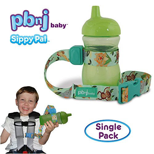 PBnJ Baby SippyPal Sippy Cup Strap Holder Leash Tether (1 Jungle)