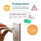 8-Child-Safety-Locks-PLUS-10-Electrical-Outlet-Covers-Latches-for-home-Baby-Proofing-Kitchen-toilet-cabinets-cupboards-and-drawers-FamilyPro-Baby-safety-products-kit