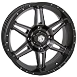 4/137 STI HD7 Alloy Wheel 14x7 5.0 + 2.0 Matte Black/Smoke - Fits: Bombardier Outlander 330 2x4 H.O. 2003-2005