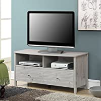 Convenience Concepts Designs2Go Westport TV Stand, Silver Oak