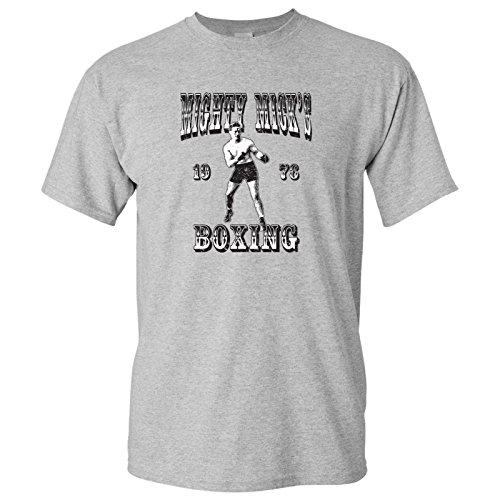 Mighty Mick's Boxing Gym - Philadelphia, Vintage Basic Cotton T-Shirt - Large - Sport Grey