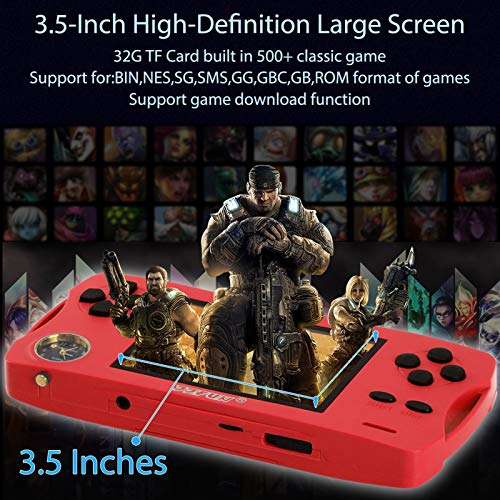 JJFUN Portable Video Game Console, 480 Classic Games 3.5 Inch Screen and Free 32G TF Card Handheld Game, Outdoor Play…