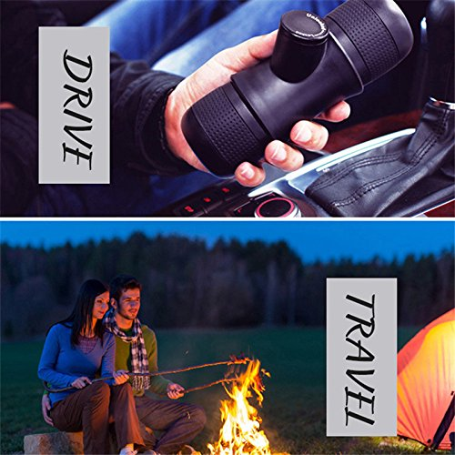 Portable Mini Espresso Coffee Maker Manual Ground Coffee Machine For Travel Camping Hiking Picnic(Black)