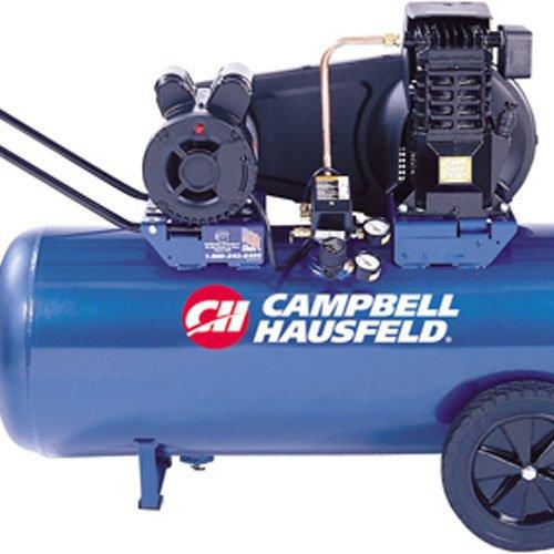 Campbell Hausfeld Air Compressor, 30-Gallon Horizontal Portable Single-Stage 10.2CFM 3.7HP 208-230V 1PH (VT6271)