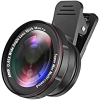 [Upgraded Version] AMIR Phone Camera Lens, 0.45X Wide...