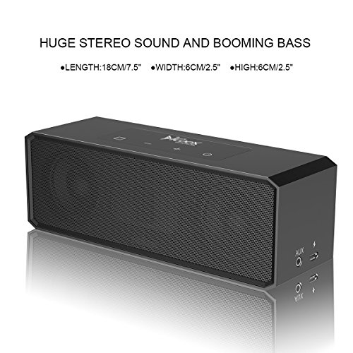 Yigou Premium Stereo Bluetooth Speaker with Carrying Bag,Two Passive Subwoofers, HD with Portable Wireless Speaker for iPhone, iPad, Nexus and More