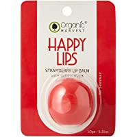 Organic Harvest Strawberry Lip Balm For dry & Chapped Lips, ECOCERT & PeTA Certified, Paraben & Sulphate Free - 10gm