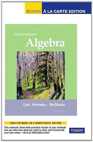Intermediate algebra books a la carte edition 11th edition intermediate algebra books a la carte edition 11th edition margaret l lial john hornsby terry mcginnis 9780321715906 amazon books fandeluxe Choice Image