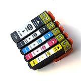 Ouguan Ink 5-Pack Compatible T3357 Ink Cartridges for Epson Expression Premium XP-530 XP-630 XP-635 XP-830 Printers Compatible Epson T3351 T33XL - T3351 T3361 T3362 T3363 T3364 Compatible Inkjets