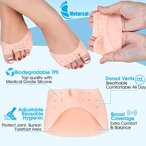 Metatarsal Ball of Foot Cushion Pads, High Heel Inserts Pads, Forefoot Pain Relief, Bunion Mortons N - coolthings.us