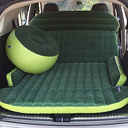 Holleyweb Inflatable Car Bed For Back Seat Heavy Duty Air Mattress SUV