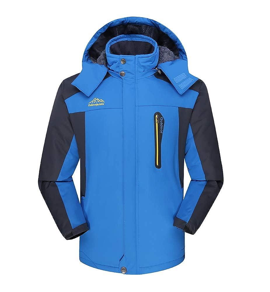 bluee LISUEYNE Women's Hooded Waterproof Jacket Outdoor Rain Coat Sportswear