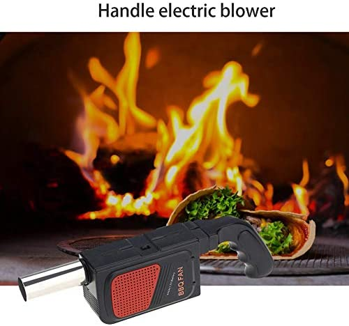 Fantasyworld Extérieur Électrique Barbecue Sèche-Cheveux Portable Souffleur d'air Électrique Souffleur d'air Barbecue Outil en Plein Air Barbecue Outils-Noir