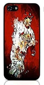 baseball sport ?? Hard Case for Apple iPhone 5/5S ( Sugar Skull )