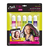 Style Me Up - Hair Color Chalk for girls. Chalk It Out Pastel Colors 5 Pens Kid Art Craft - SMU-1616