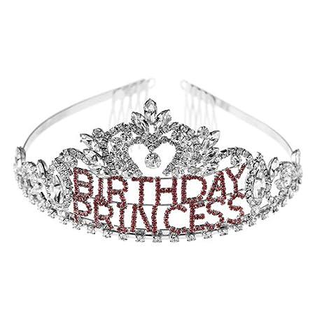 Arsimus Rhinestone Birthday Princess Tiara