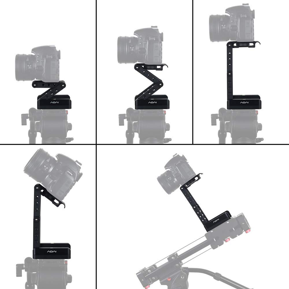 360/°Rotating Folding Z Flex Tilt Head Tripod Ball Head Aluminum Alloy Folding Camera Bracket with Quick Release Plate Stand Holder Compatible with DSLR Camera Canon Nikon Sony Pentax