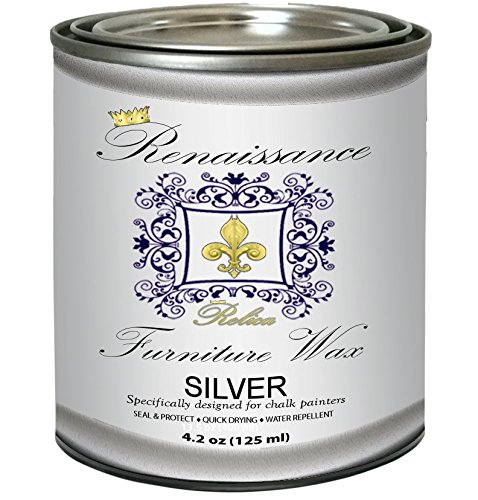 Shabby Cottage Furniture (Renaissance Furniture Wax - Silver Metallic 4.2 oz)