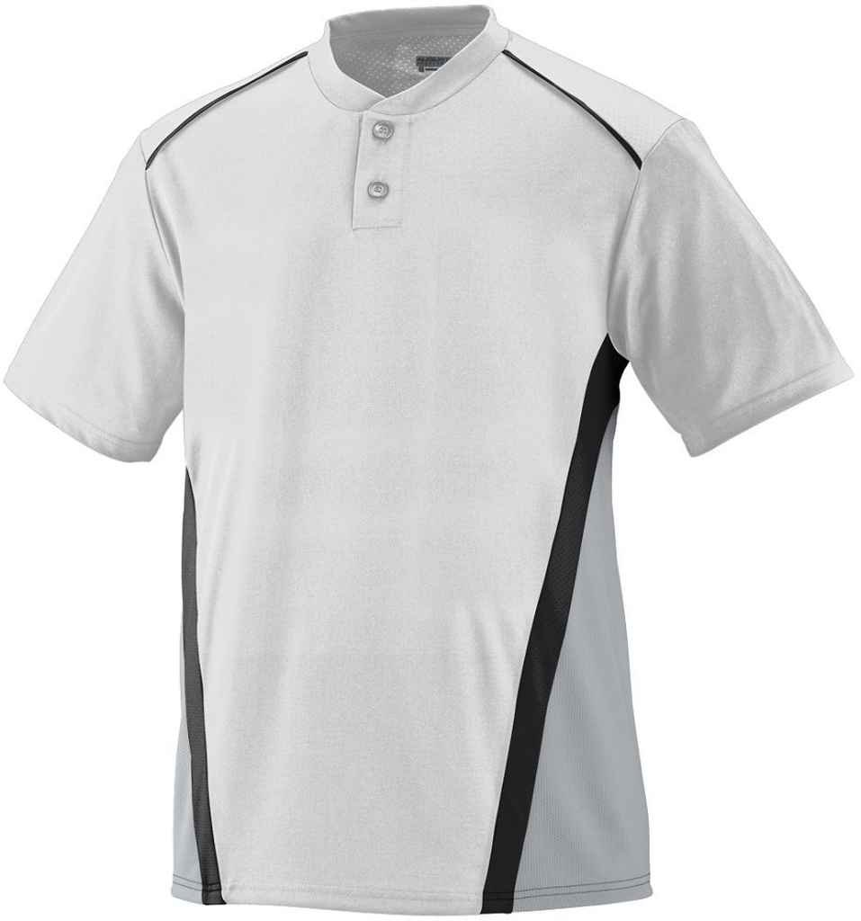 Augusta Sportswear Boys ' RBI野球ジャージー B00E1YULK0 Small|White/Silver Grey/Black White/Silver Grey/Black Small