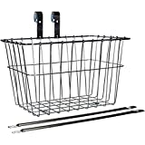 Wald 135 Front Grocery Bicycle Basket, 14.5 x 9.5 x 9, Silver
