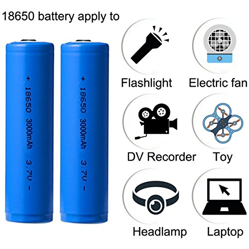 4pcs 18650 Batteries 3000mAh 3.7V Li-ion Rechargeable Battery with USB Battery Charger for Li-ion 26650 18650 14500 battery, Widely Used for Flashlight Headlamp Solar lamp Tools - vapecentral.us