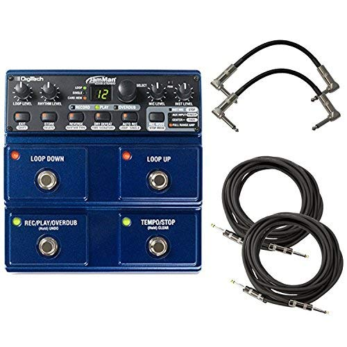 Digitech JML2 JamMan Stereo Looper and Sampler Pedal Bundle with 2 Patch Cables and 2 Instrument Cables
