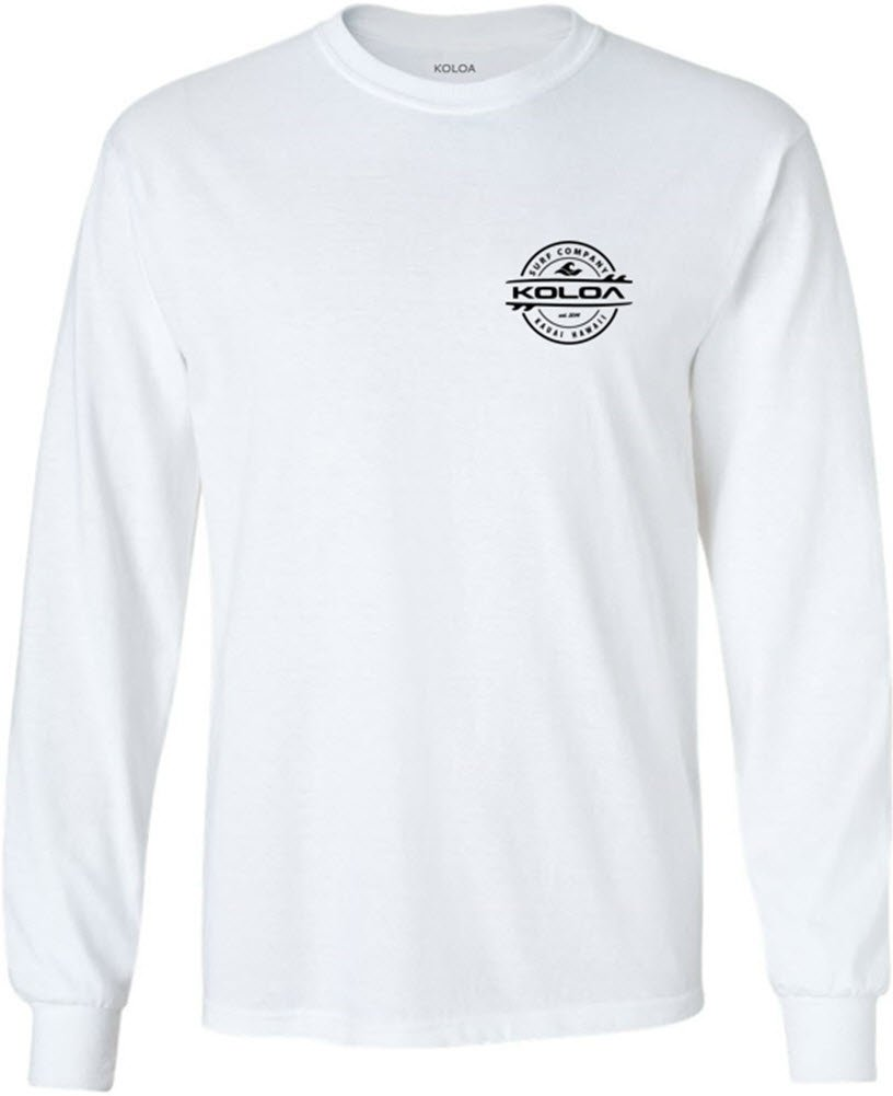 95e223ec0 Joe's USA Koloa Surf Long Sleeve Thruster Logo Heavy Cotton T-Shirts.  Regular,