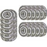 30 Bearing 608ZZ 8x22x7 Shielded Greased Miniature Ball Bearings
