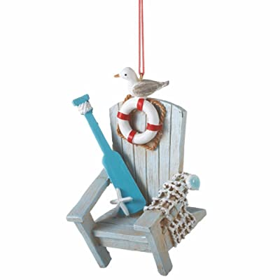 Midwest CBK Coastal Adirondack Chair Ornament: Home & Kitchen