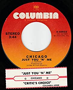 """45vinylrecord Just You N Me/Critic's Choice (7""""/45 rpm)"""