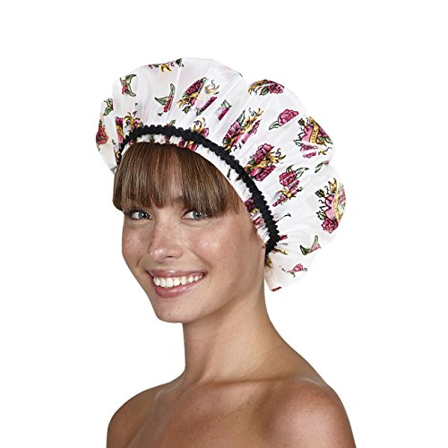 Betty Dain Hipster Collection Mold Resistant Shower Cap, Tough Love