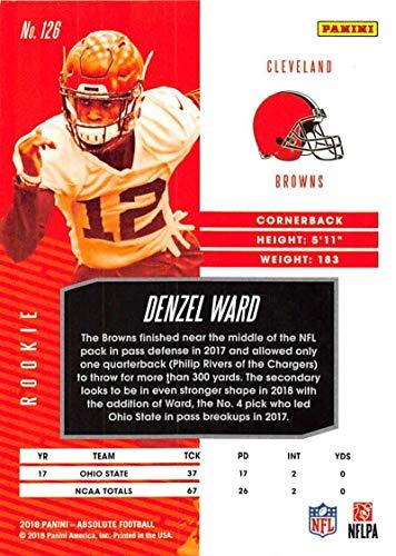 Amazon.com: 2018 Absolute Football #126 Denzel Ward Rookie ...