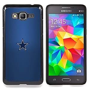 "Qstar Arte & diseño plástico duro Fundas Cover Cubre Hard Case Cover para Samsung Galaxy Grand Prime G530H / DS (Minimalista Estrella"")"