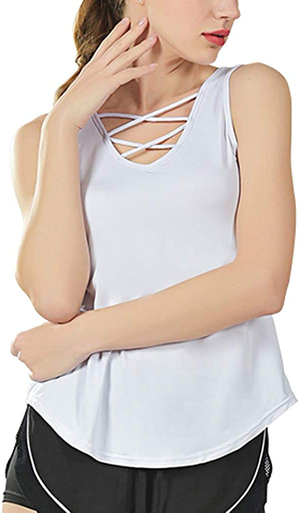 iYYVV Fashion Womens Sports Yoga Fitness Workout Sleeveless Tops T-Shirt Vest Tank Top