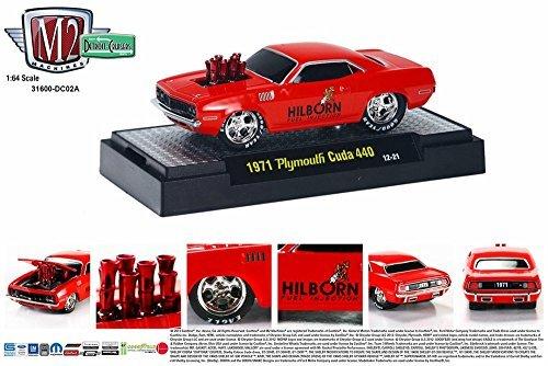 1971 Plymouth Cuda 440, Tor Red - Castline M2 31600/DC02A - 1/64 Scale Diecast Model Toy Car