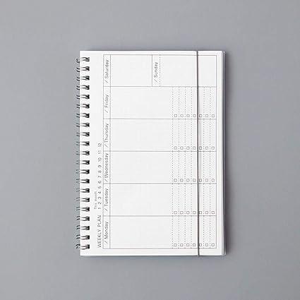 EUHOKD Cuaderno Diario Semanal Planificador Mensual Agenda ...