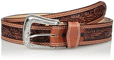 Nocona Belt Co. Men's Tan Mexican Floral Embose