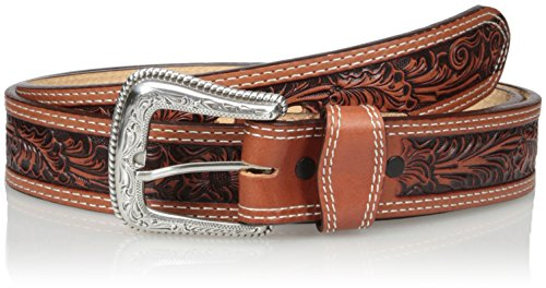 Nocona Belt Co. Men's Tan Mexican Floral Embose, 32 (Western Mens Belts Leather)