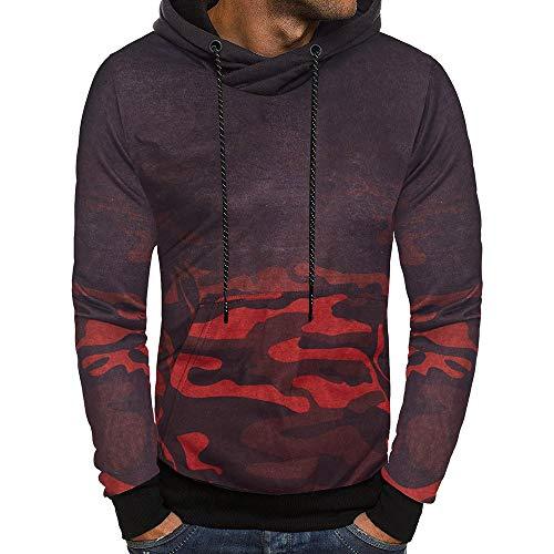 - ◕‿◕ Toponly Men's Long Sleeve Camouflage Hoodie Hooded Sweatshirt Top Outwear