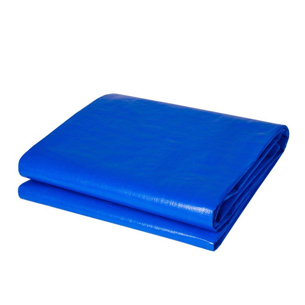DUO Telo copriauto in materiale spesso resistente, impermeabile, ideale per tettuccio in tela cerata, barca, camper o copertura per piscina -0,35 mm 180 g m² (colore   Blu, dimensioni   3 x 4m)