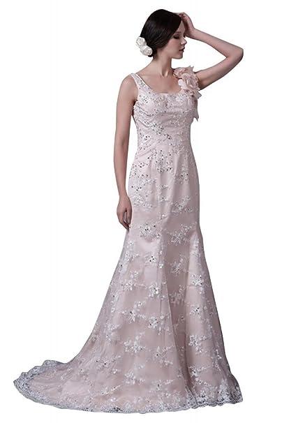 George Bride Princesa cuadrangular rueckenfrei Punta ueber satén vestido de novia Vestidos de novia Vestidos de