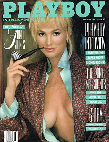 (March 1987, Playboy Magazine - Vintage Men's Adult Magazine Back Issue - Janet Jones)