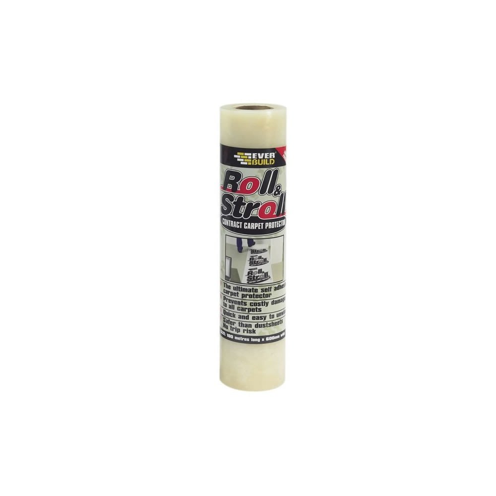 Everbuild ROLLCON100 Roll /& Stroll 100m Contract Carpet Protector