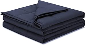 Weighted Idea Weighted Blanket Adults 17 lbs (60''x80'', Soft Fabric, Navy Blue)